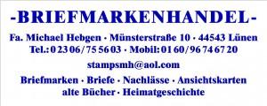Briefmarkenhandel Hebgen